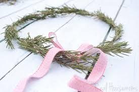 diy rosemary wreaths real housemoms