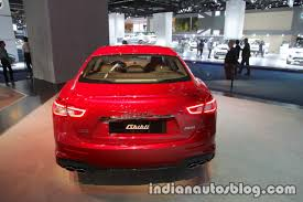 maserati ghibli red 2018 maserati ghibli gransport rear at iaa 2017 indian autos blog
