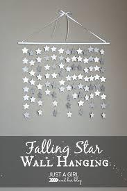 Stars Nursery Decor by Falling Star Wall Hanging Falling Stars Star Wall And Wall Hangings