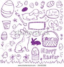 free easter speeches for youth easter doodles stock vector 26495386