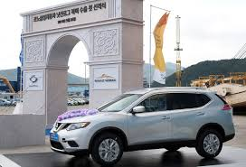 nissan rogue in australia renault samsung starts shipping korean built nissan rogue to the us