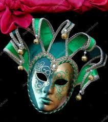 jester mask green carnival jester mask with bells stock editorial photo