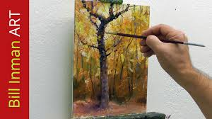 paint trees learn to paint fall colors and leaves fast motion