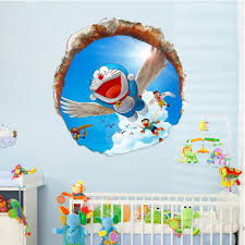 Removable Wall Decals For Baby Nursery by Online Get Cheap Wall Stickers Doraemon For Kids Rooms Aliexpress