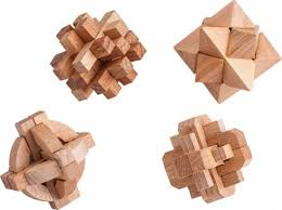 samsonico usa wooden puzzles set of 4 brown sm 50950 best buy