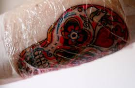 how to heal a tattoo with no scabbing tatring