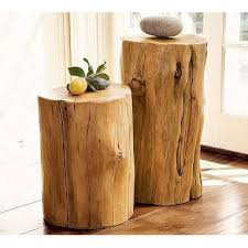 Tree Stump Side Table Stylish Wood Accent Table Reclaimed Wood Tables And Salvaged