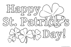 simple ideas st patricks day coloring pages patrick s educational