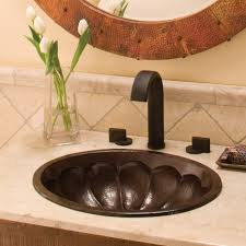 calabash oval copper bathroom sink native trails