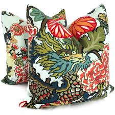 Red Pillows For Sofa by Accessories Exquisite Red And Blue Pattern Schumacher Outdoor