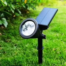 universal durable 4 led light solar power light garden yard lawn