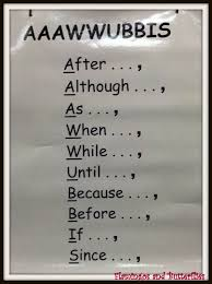 anchors aaawwubbis complex sentence structures subordinating
