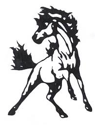 black mustang horse stallion clipart mustang logo pencil and in color stallion