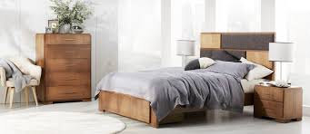 Rustico Bedroom Set Maitland Dark Timber And Upholstery Bedroom Furniture Suite With