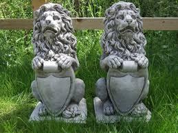 with shield pair garden ornament pillar cap gate post