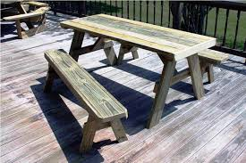 Plans For Wooden Picnic Tables by Best Bench Picnic Table Designs To Make Sure Of The Picnic Fun