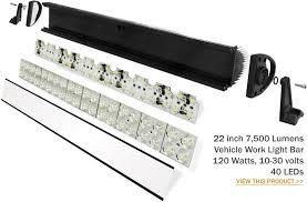 120 volt led light bar pair of 55 watt 4 hid xenon off road driving lights