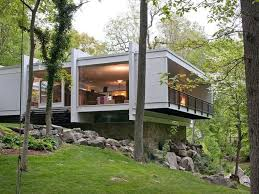 amazeballs mid century modern house with steel columns design