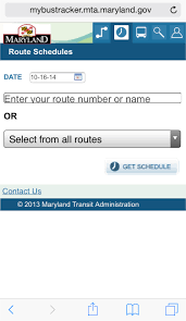 my mta tracker maryland transit administration