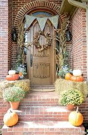 Fall Front Door Decor Ideas Thanksgiving Front Door Decorations
