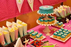 party table party fit princess aqua pink mermaid birthday tierra este 61089