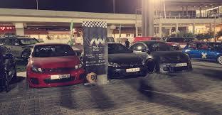 volkswagen kuwait auto show event at sirbb go karting circuit kuwait srt hellcat