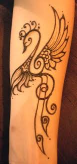 hennatattoo lotus and butterfly lower tummy
