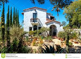house build in traditional style santa barbara california stock