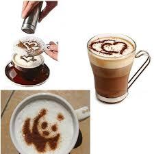 16 pcs coffee stencil cappuccino coffee barista stencils