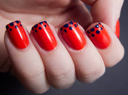 14 simple red nail art design for girls katty nails katty nails