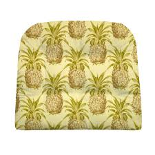 Pineapple Home Decor Pineapple Grove Natural Indoor Outdoor Dining Chair Pads And Patio