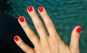 lovely red nail polish short nails for your nail decorating ideas