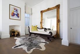 Zebra Floor L Zebra Print Cowhide Rug White L Imports As Well 16 2508