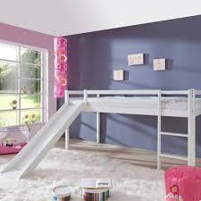 Mid Sleeper Bunk Bed Kidz Beds Alex Mid Sleeper With Slide White Jellybean Ireland