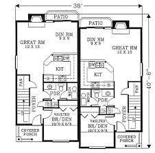 Duplex House Plans For Narrow Lots Floor 1 House Additions Pinterest Duplex House Plans Duplex