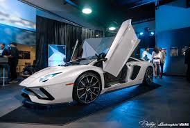Lamborghini Aventador J Blue - lamborghini aventador s debuts at lamborghini miami