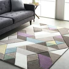 Modern Purple Rugs Purple And Gray Area Rugs Modern Geometric Carved Gray