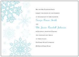 Christmas Wedding Programs Invitations Printable Blue Snowflake Wedding Invitations Template