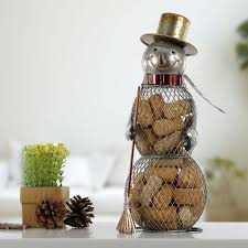 best and cheap brown christmas snowman cork container metal
