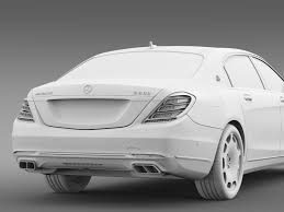 mercedes maybach s500 mercedes maybach s600 x222 2015 3d cgtrader