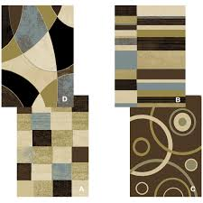 Rugs Modern by Contemporary Geometric Multicolor 8x11 Area Rug Modern Carpet