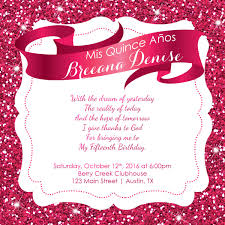 Christening Invitation Card Latest Trend Of Sweet 15 Invitations Cards 80 For Your Sample