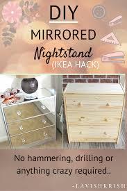 Mirrored Furniture Diy Mirrored Nightstand Diy Mirror Hammer Drill And Nightstands