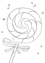 Coloring Page Of A Lollipop Coloring Page Free Printable Coloring Pages by Coloring Page Of A
