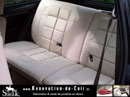 reparer siege cuir rénovation sièges auto cuir avant et arrière en noir sofolk