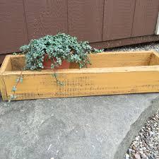herb planter trough wood planter box storage box succulent planter