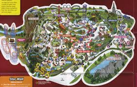 Arlington Tx Map Theme Park Brochures Six Flags Over Texas Theme Park Brochures