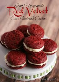 semi homemade red velvet cake sandwich cookies i love my