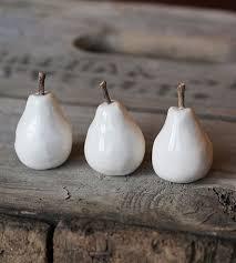 tiny ceramic pear trio home decor u0026 lighting crave studio