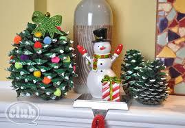 make festive pine cone trees club chica circle where